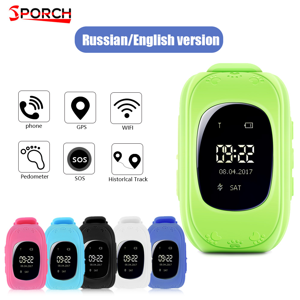 Sporch Q50 GPS SOS Children Tracker 2G font b Phone b font Call Kids Smartwatch LCD
