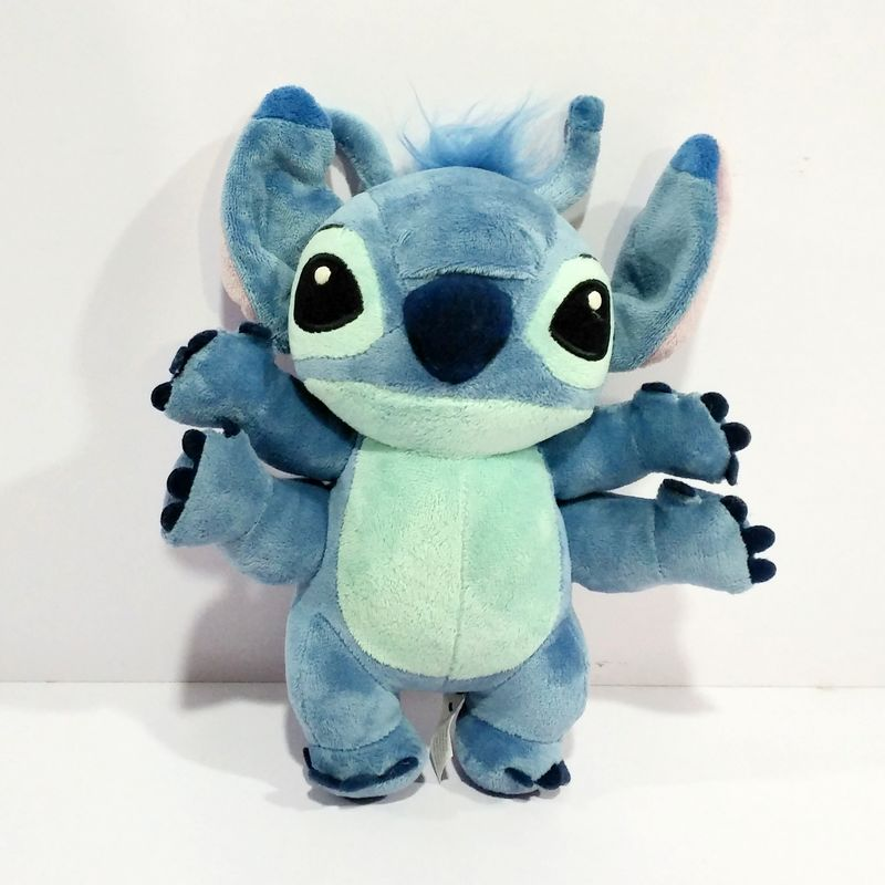 Lilo and Stitch Toy 626 Experiment 4 Hands Stitch Plush Figure Doll 22cm Cute Stuffed Animals Baby Kids Toys for Children Gifts wvw cartoon stitch soft stuffed animals toy baby doll toys for girls children birthday gift mini stuffed animals cute plush toy