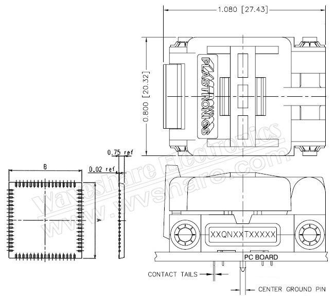 Wavesahre QFN8 à DIP8 (A) Plastronics IC adaptateur de programmation prise de Test 5.1x6.1mm 1.27 pas pour QFN8 MLF8 MLP8 paquet - 4