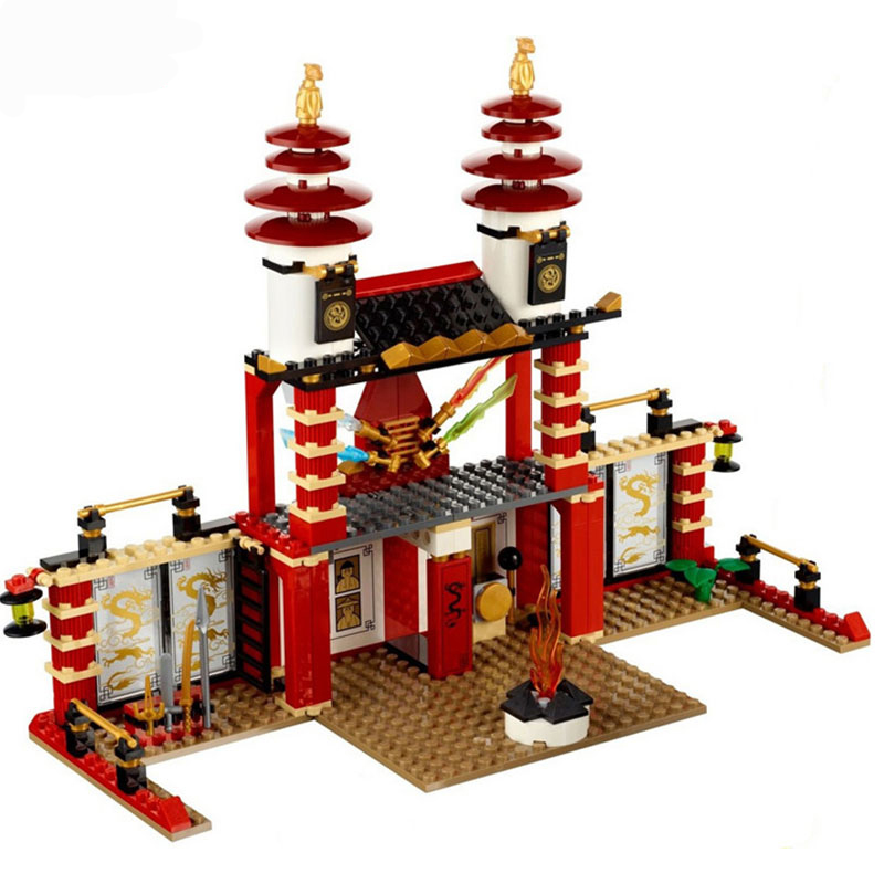 577pcs New Compatible Legoing Phantom Ninjago Temple of Light Golden Model with Minifigure Building Blocks Toys for boys Gifts