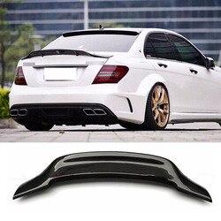 W204 C180 C200 C260 C300 samochód z włókna węglowego tylny spoiler szyby bagażnika skrzydło dla Mercedes Benz W204 C63 4 drzwi 2008-2013 r styl