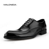 MALONEDA/Брендовые мужские свадебные туфли ручной работы из натуральной кожи в стиле ретро; цвет черный, коричневый; итальянские мужские туфли