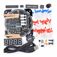 Free Shipping Upgrade DIY EC1515A DS1302 Rotation LED Electronic Clock Kit 51 SCM Learning Board