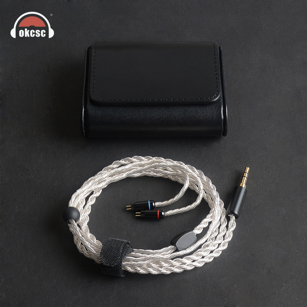 OKCSC KE6YU 6 Cores MMCX Earphone Cable Silver Plated 0.78mm 2PIN 3.5mm Stereo Plug For Westone 1964/UE18/JH13/JH16/W4r/UM3X