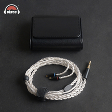 купить OKCSC KE6YU 6 Cores MMCX Earphone Cable Silver Plated 0.78mm 2PIN 3.5mm Stereo Plug for Westone 1964/UE18/JH13/JH16/W4r/UM3X дешево