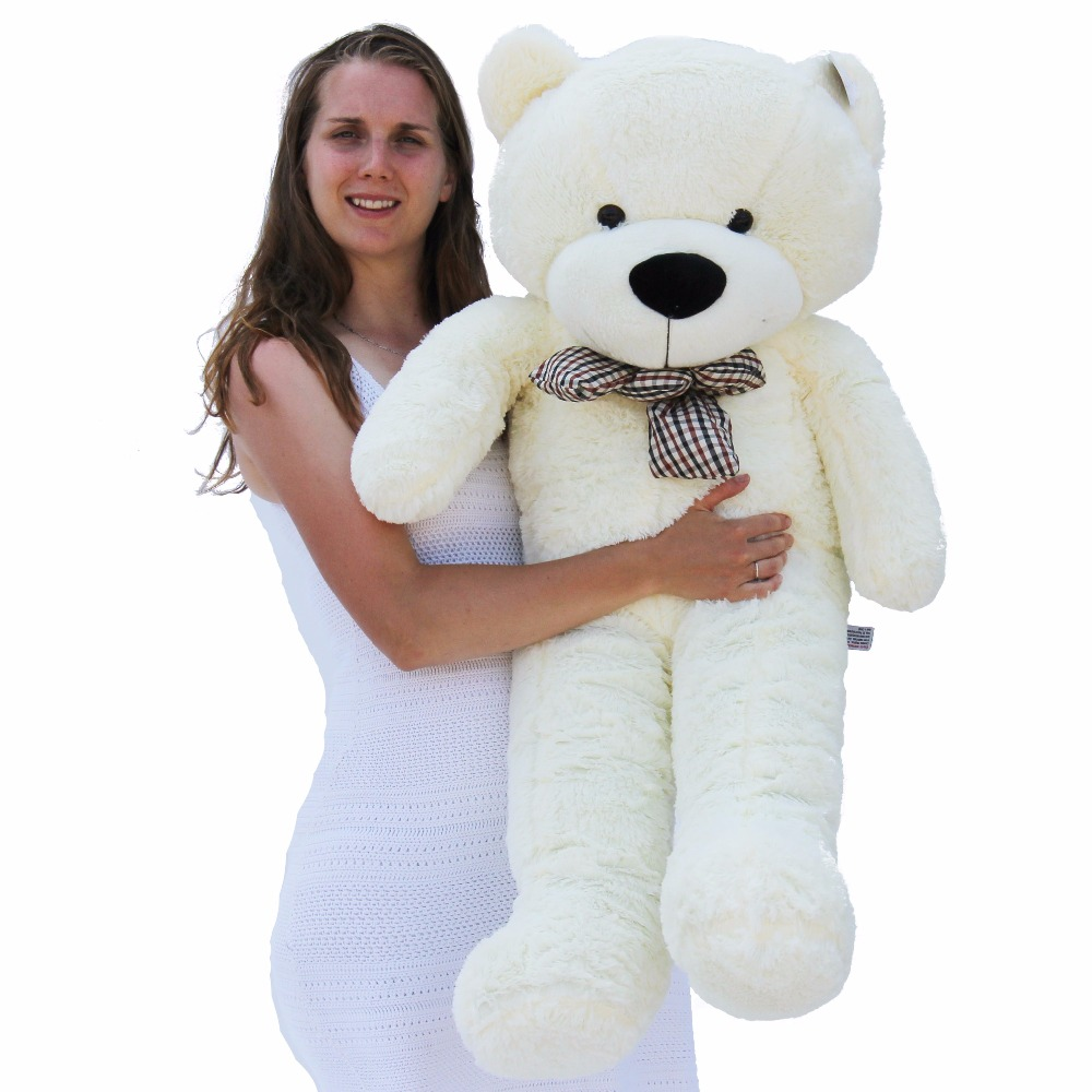 Joyfay 47 120cm White Giant Teddy Bear 1.2m Huge Stuffed Plush Toy Big Soft Toy Best gift for Birthday Valentine Anniversary archie giant comics 75th anniversary book