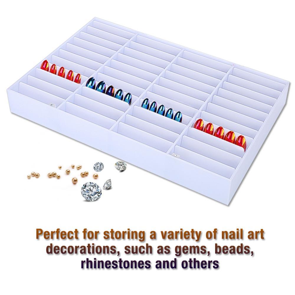 Nail Gel Polish Flase Nails Holder Tips Storage Box Nail