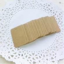 Étiquettes à suspendre en carton, rétro, 2x100 cm, cadeau blanc, en papier Kraft, 3.3 pièces