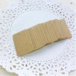 100Pcs Cardboard Blank price Hang tag Retro Kraft Gift Hang tag 2*3.3cm