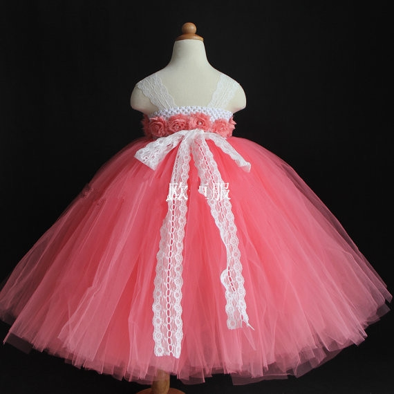 Children clothing Coral Red Girl dress High end Sling style Gauze Tutu Princess dress vestidos with