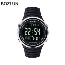 Bozlun 2016 Nuevo Reloj de Los Hombres Militar Deportes Relojes de Silicona de Moda A Prueba de agua LLEVÓ el Reloj Digital Para Hombres Reloj digitalwatch