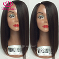 Brazilian bob synthetic heat-resistant fiber wigs for black women synthetic lace front wig short bob free parting lace front wig