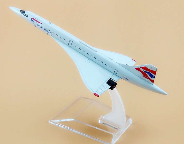 15.5cm Alloy Metal Air British Airways Costa Concordia G-BOAC Airlines Plane Model Airplane Model w Stand Aircraft Gift