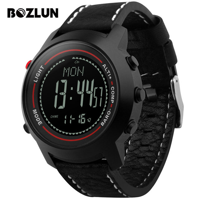 Bozlun MG03 Men Sport Watch Digital Wristwatches Mountain Altitude Pressure Temperature Compass Waterproof Relogio Masculino