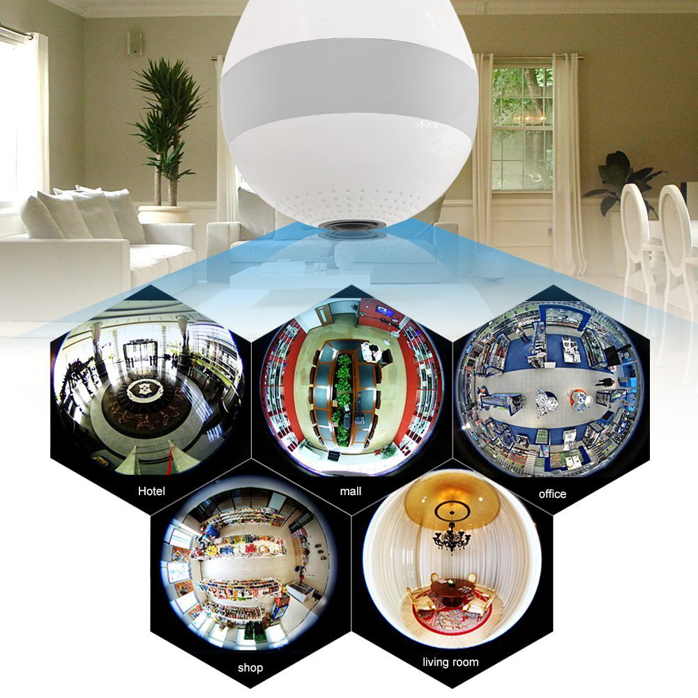 Panoramic LED Light 1080P HD 3D Camera Home Security WiFi CCTV Fisheye Bulb Lamp 360 Degree IP Camera Strong Function