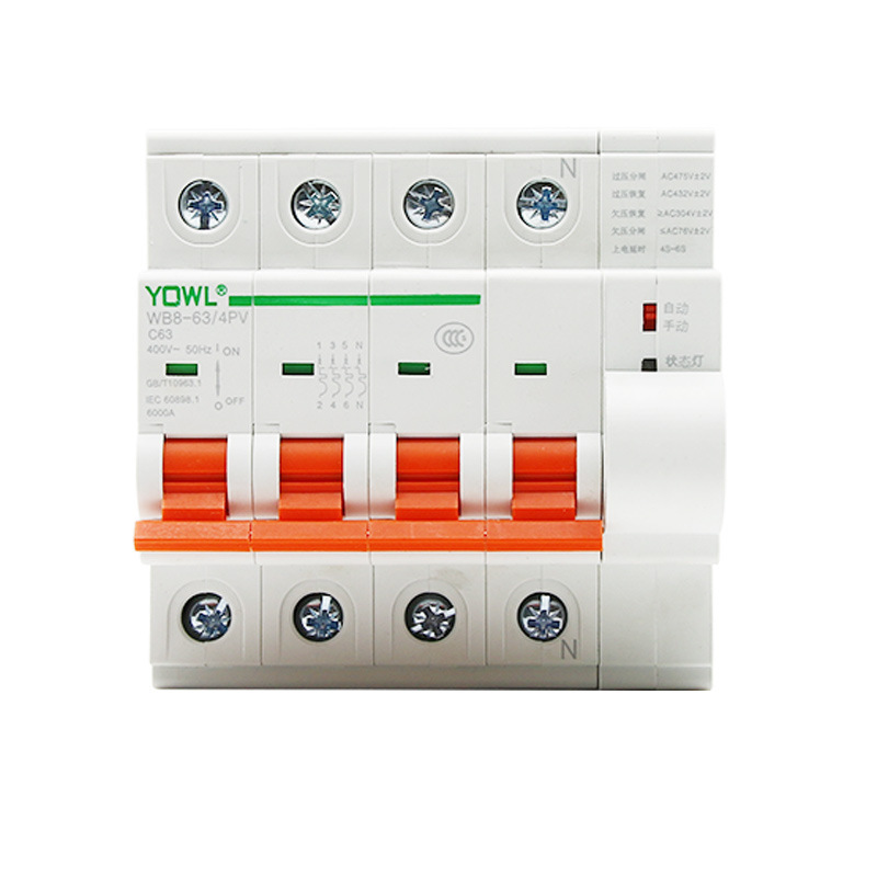 Too Owe Pressure Automatic Grid Coincidence Gate 230V/4P Small sized Light Volt Coincidence Gate 80A Circuit Breaker Protect