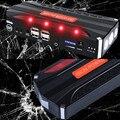 Мини-Высокая Производительность Многофункциональный 12 В Автомобиль Скачок Стартер 4USB 2.0A Power Bank SOS Огни Автомобильного Аккумулятора Руля зарядное устройство Свободный Корабль