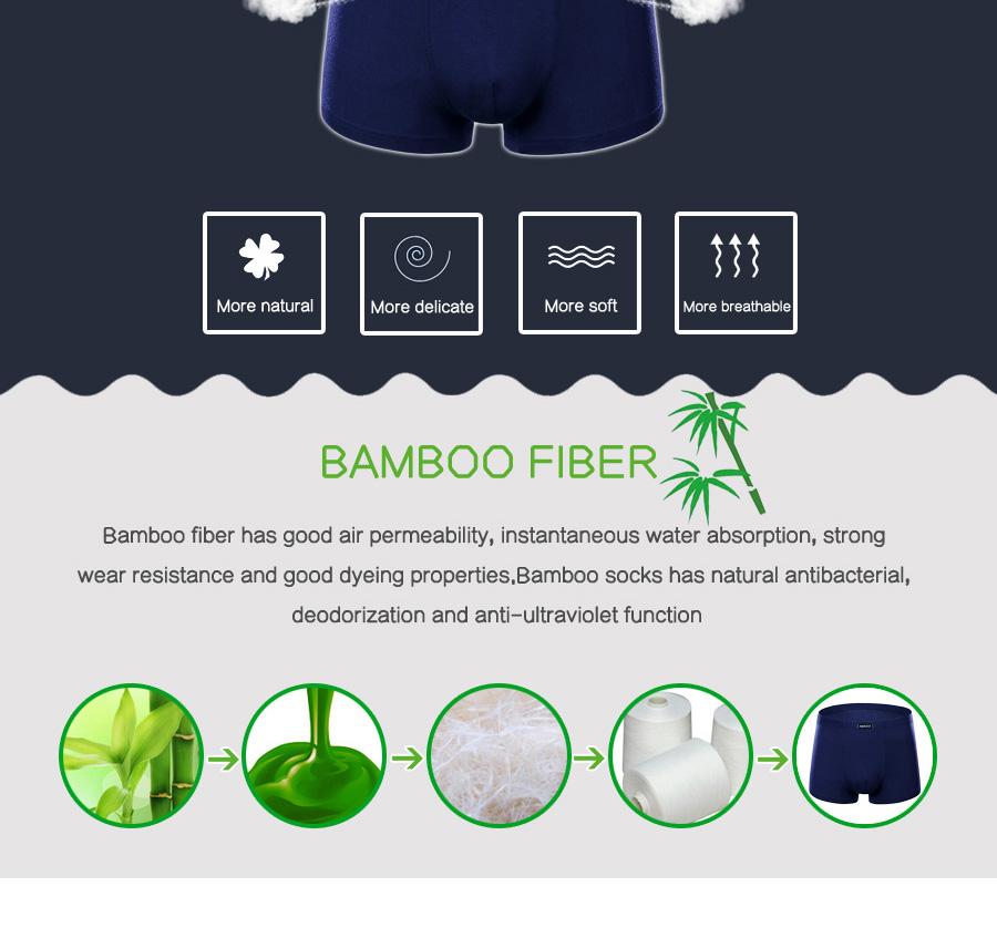 Bamboo Fibre Mens Underwear Boxer Shorts 21