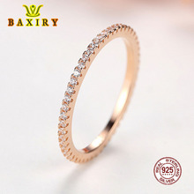 925 Sterling Silver Crystal Wedding Female Rings For Women Engagement Jewelry Geometric Accessories Black Gold Rose Gold Ring