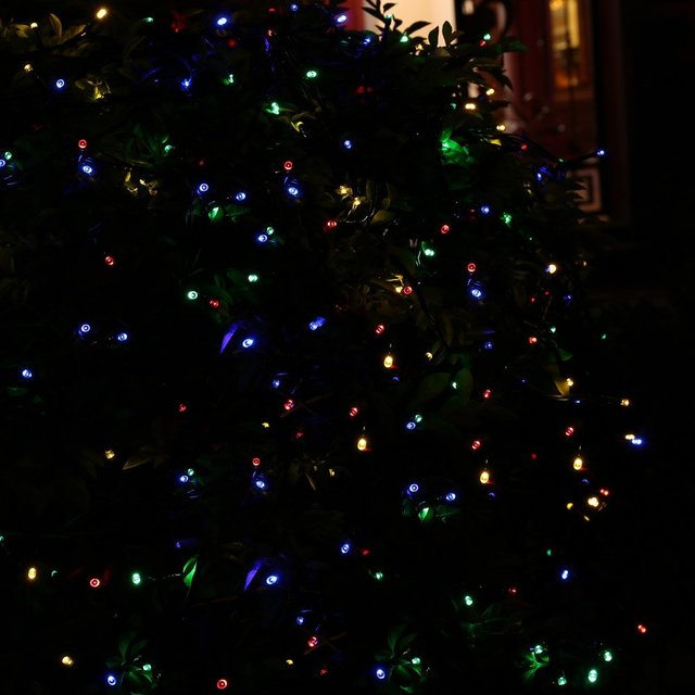 Christmas Solar String Lights 72ft 200 LED Light for Indoor and Outdoor, Lawn, Garden, and Holiday Decorations