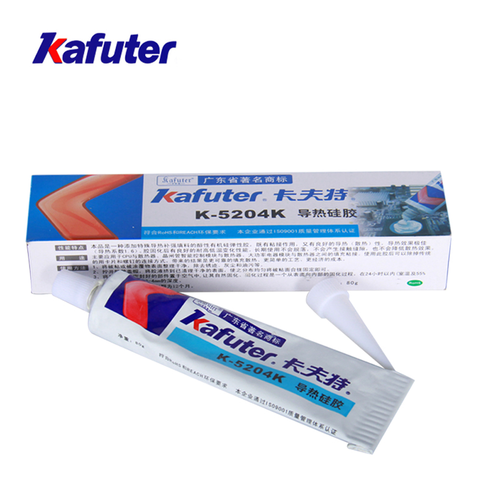 Kafuter 80g K-5204K LED Thermal Conductive Silicone CPU Thermal Conductive Silicone Adhesive Grease Paste Glue Rubber