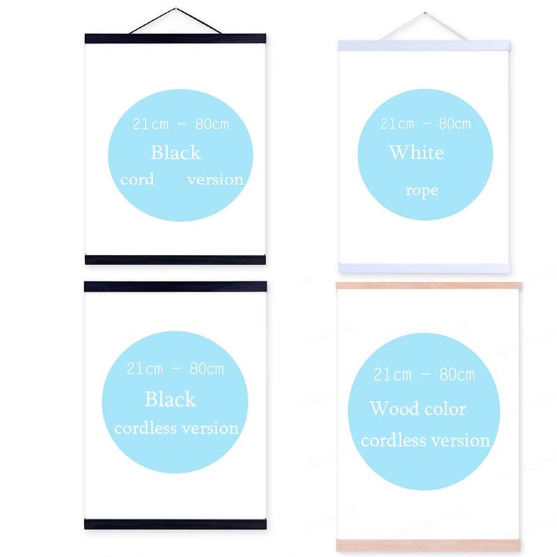 Magnetische Holz Kleiderbügel Poster Rahmen Hängen gedruckt Wand Art Home DecorDIY Aufhänger Teak Aufhänger Malerei Leinwand Poster Foto Rahmen