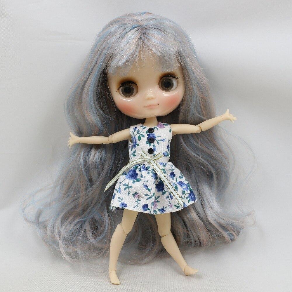 Middie Blythe Doll Blue White Dress 2
