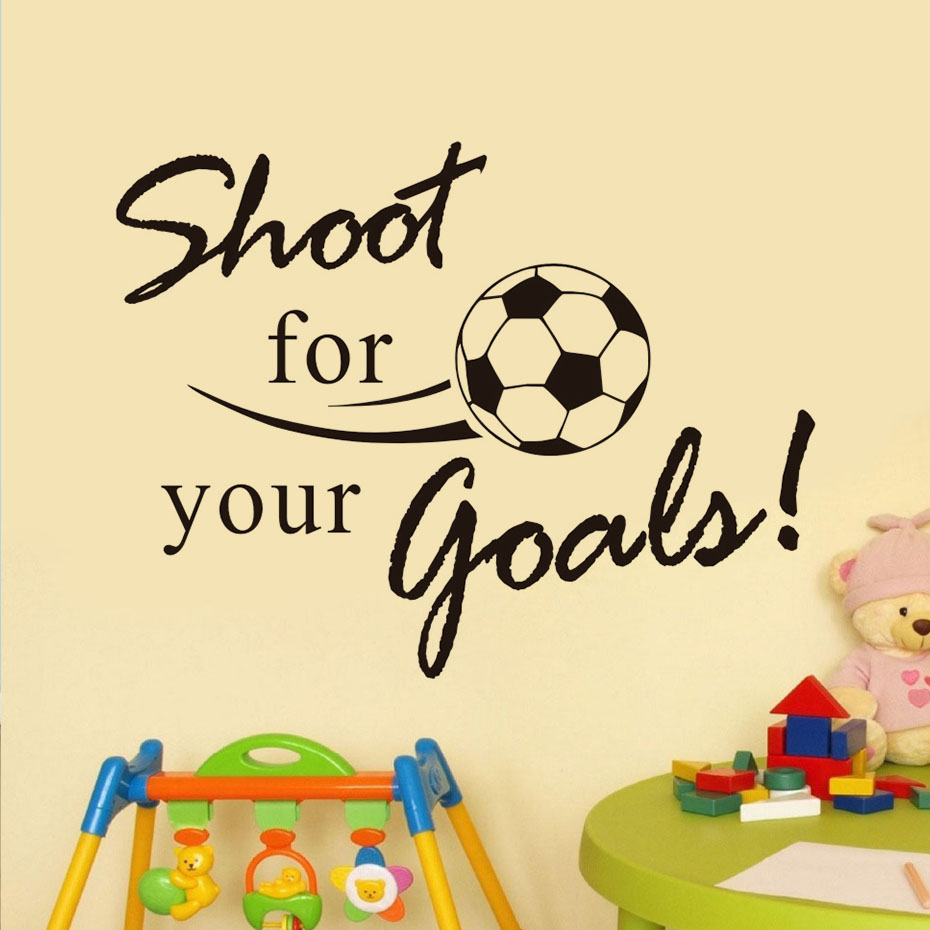 Shoot For Your Goals Soccer Wall Decals Vinyl Removable Art Wall ...