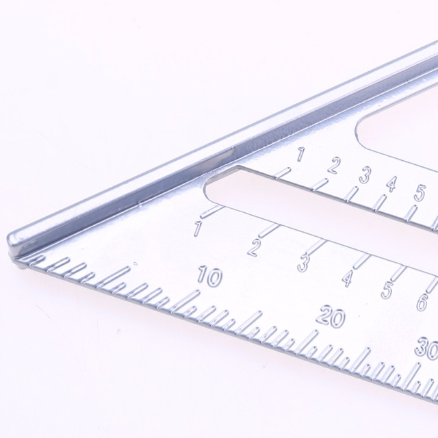 Tri-square Line Scriber Saw Guide Measurement Inch Carpenter Ruler Speed Square Protractor Aluminum Alloy Miter Framing