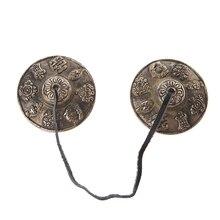Tibetan Tingsha Cymbals Bell Buddhism Auspicious OM Mani Nepal Handmade Brass
