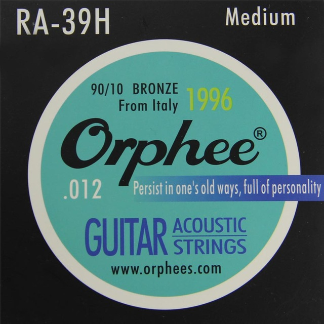 Orphee RA-39H 90/10 bronze string high-quality copper string guitar medium stings 6pcs/set acoustic guitar strings