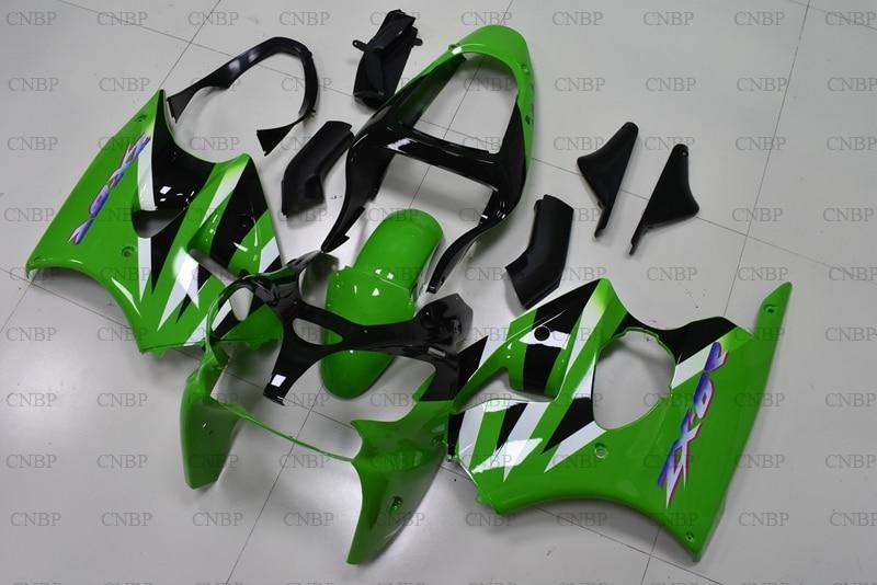 Ninja ZX-6r 2000 - 2002 Fairing Kits Ninja ZX-6r 2001 Plastic Fairings for Kawasaki ZX6r 2002 Green Black FairingsNinja ZX-6r 2000 - 2002 Fairing Kits Ninja ZX-6r 2001 Plastic Fairings for Kawasaki ZX6r 2002 Green Black Fairings
