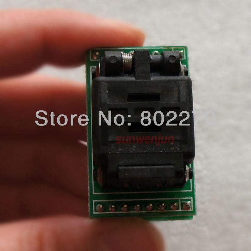 QNF8/MLP8/MLF8/SON8/WSOP8 to DIP8 Test Socket/Adapter PLASTRONICS 08QN12T16050 8 0