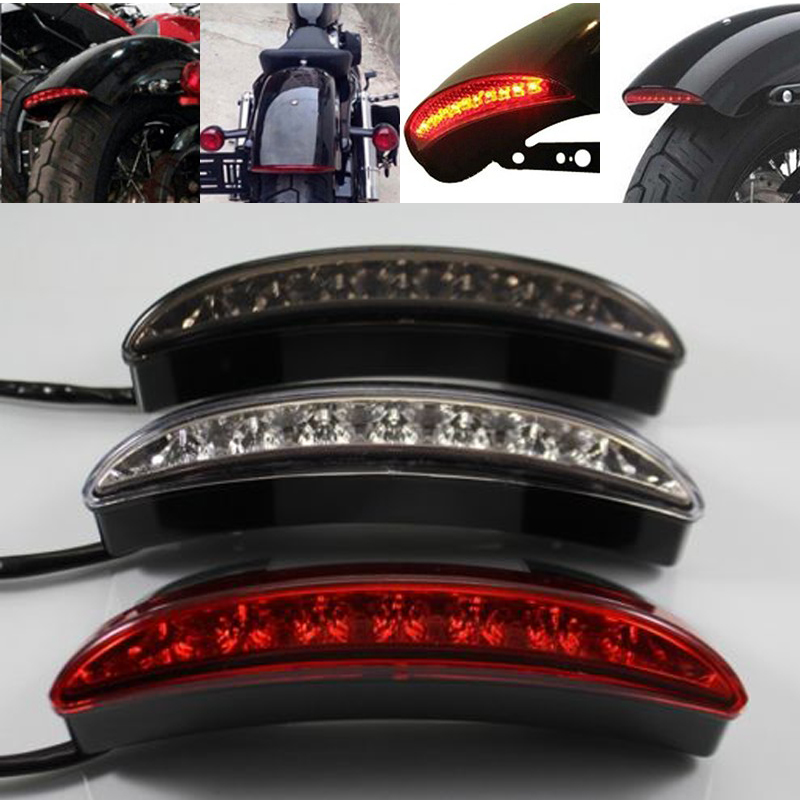 Red Lense Motorcycle Rear Fender Edge Led Tail Light For Harley Davidson Iron 883 Xl883n Xl1200n 1200 Brake Lamp Back To Search Resultshome