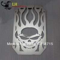 Chrome Skull Flame Stainless Radiator Grille For Kawasaki Vulcan 800 VN800 VN 800 1995+