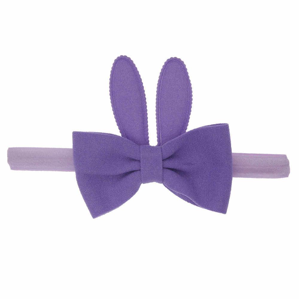 Для маленьких девочек с заячьими ушками эластичные волосы головная повязка реквизиты для фотографии повязка на голову дети тюрбаны Accessoire повязка Детские головной убор