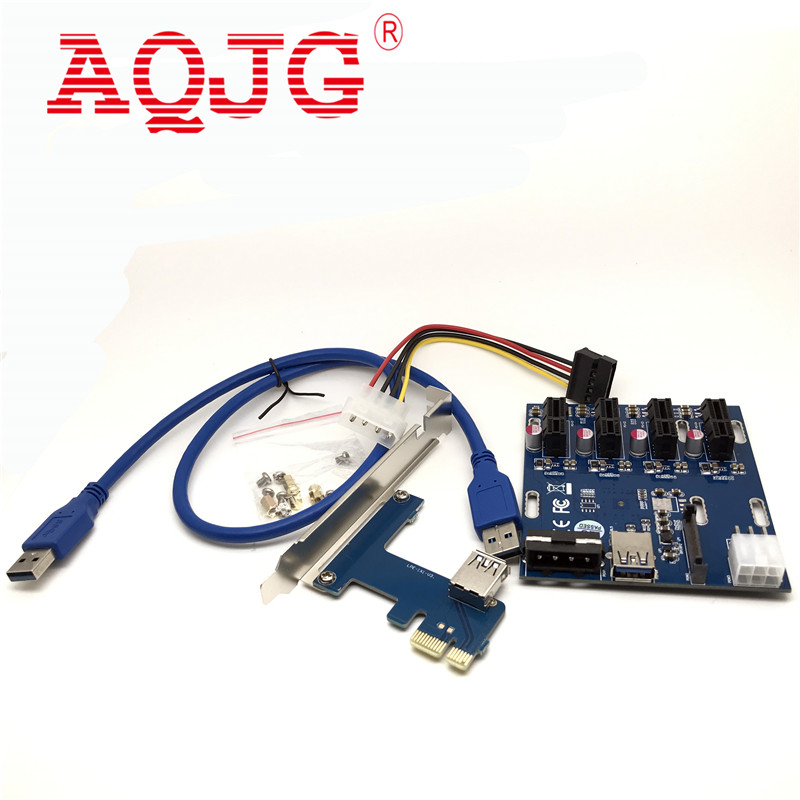 1 Pc PCIe 1 à 4 PCI Express 1X slots Riser Carte Mini ITX à externe 4 PCI-e Slot adaptateur PCIe Port Carte Multiplicateur EM88
