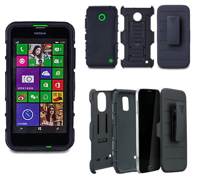 Shockproof Impact Rugged Combo Hard Phone Case Slide Cover For Nokia Lumia 635 Rm 974