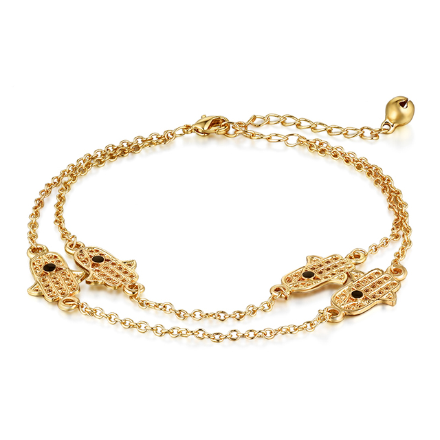 Anklets with Hand of Fatima