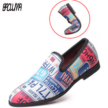 2019 Man Dress Shoes Colorful Loafers Man Business Formal Shoes Fashion Nightclu