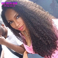 7A Rizado Afro rizado Pelucas Llenas Del Cordón Sin Procesar Virginal Malasio Glueless pelo Del Frente Del Cordón Del Pelo Humano Rizado Pelucas Para Negro mujeres