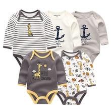 5 Pçs/lote newbron inverno manga longa macacão de bebê set bebê macacão meninas do bebê roupa de bebe de menina romper do bebê roupas menino