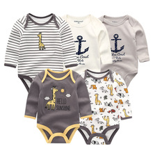 5 PCS/lot newbron winter long sleeve baby rompers set baby j