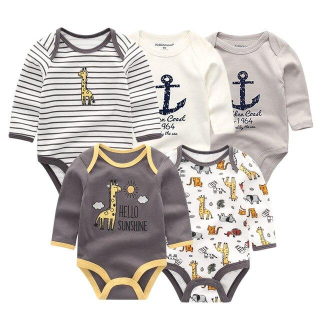 5 шт./лот, новинка, зимний детский комбинезон с длинными рукавами, детский комбинезон, комбинезон для маленьких девочек, roupa de bebe, одежда для маленьких мальчиков