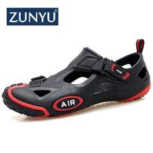 Zunyu 2019 nova moda primavera verão sapatos homens tênis sandálias de água ao ar livre homens sandálias de praia calçados masculinos tamanho 36 45