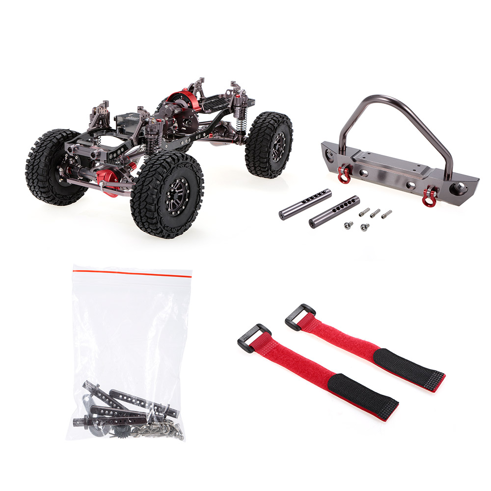 Image 5 - 1/10 Cool Racing CNC Aluminum and Carbon Frame AXIAL SCX10 Chassis 313mm Wheelbase RC Car FrameRC Cars   -