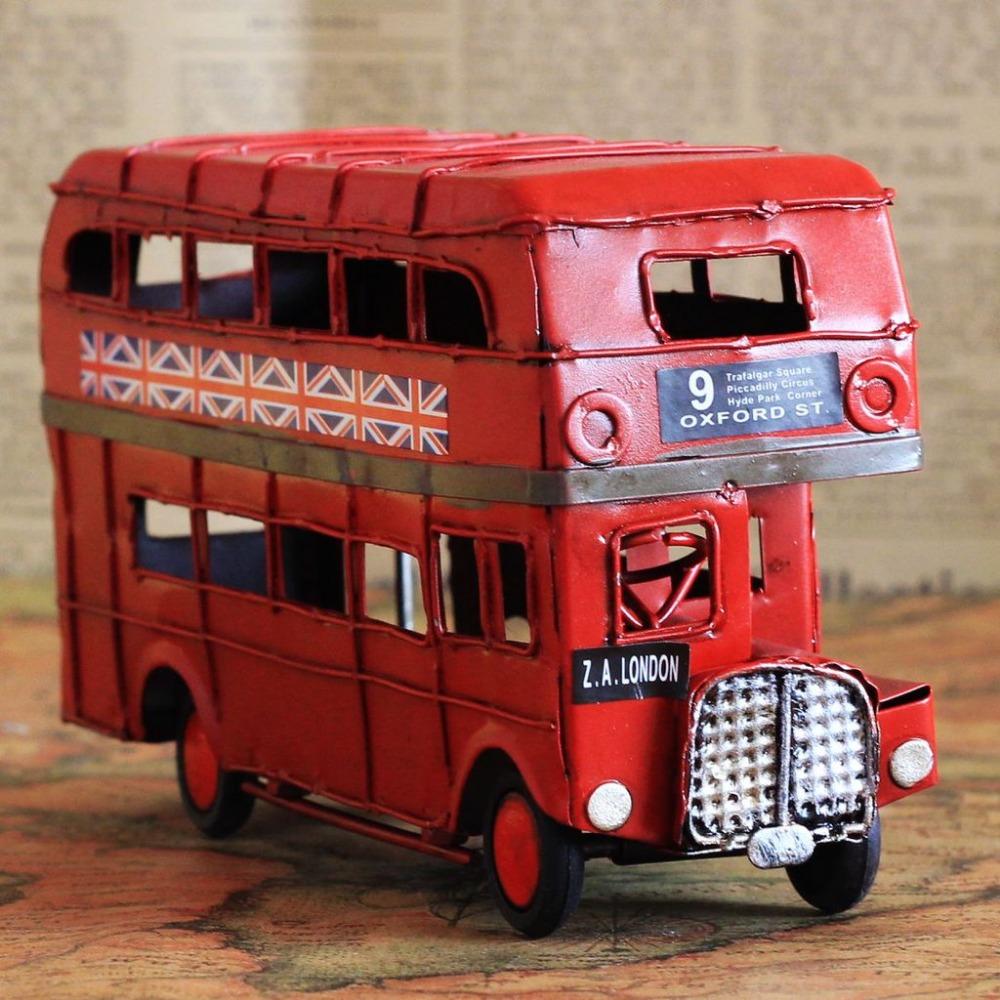 modelo de autobs de hierro rojo hecho a mano clsico de londres street