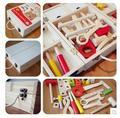 Envío Libre!! Juguetes Para bebés de Mano De Lujo De Madera Caja de Herramientas Ensamblaje Nueces Educativos Juguetes Para Bebés de regalo de Navidad Para Niño