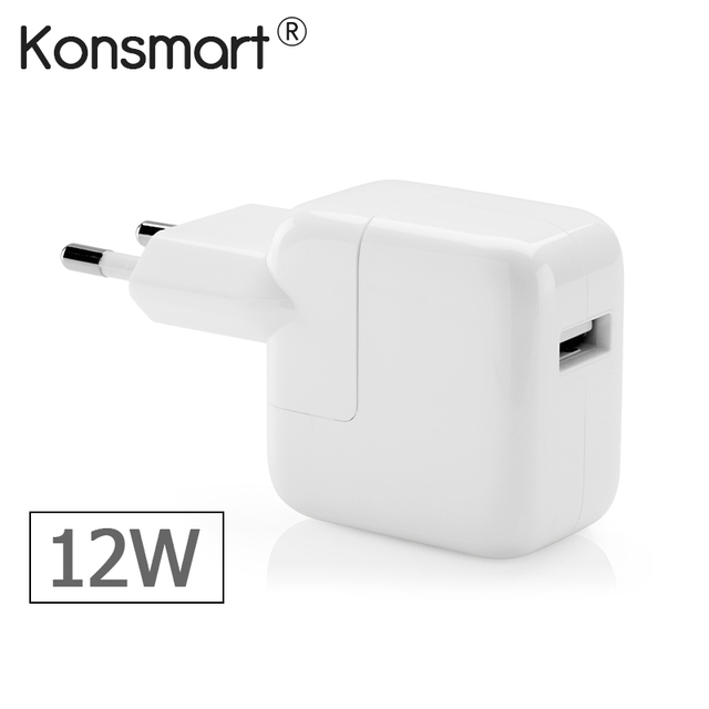 2.4A Fast Charging 12W USB Power Adapter Travel Phone Charger for iPhone 5s 6 Plus iPad Mini Air Samsung and Tablet for Euro