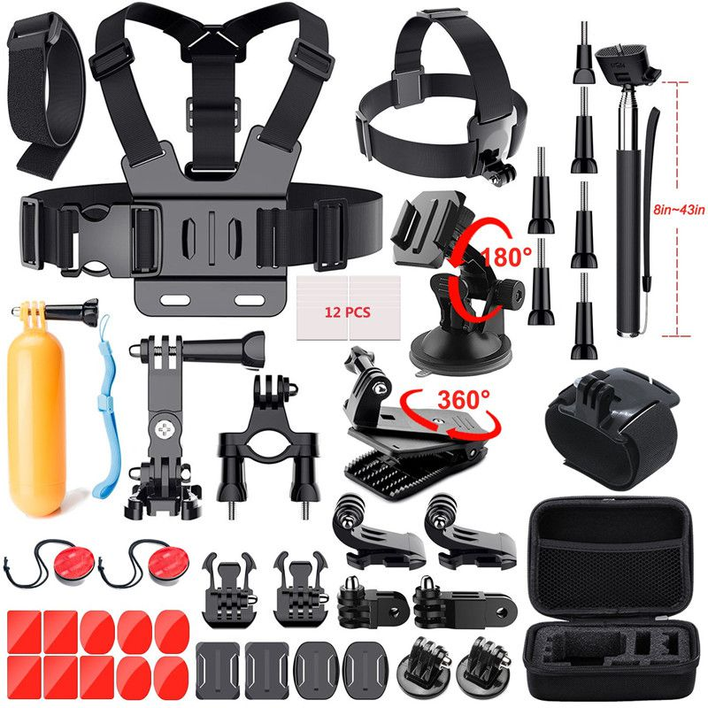 GoPro Accessories Kit For GoPro Hero <font><b>7</b></font> 6 5 Black 4 <font><b>3</b></font> Session Action Camera Accessories for Xiaomi Yi 4k AKASO Apeman SJ5000 <font><b>6000</b></font> image